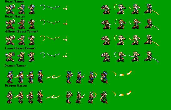 Ogre Battle Sprites SNES